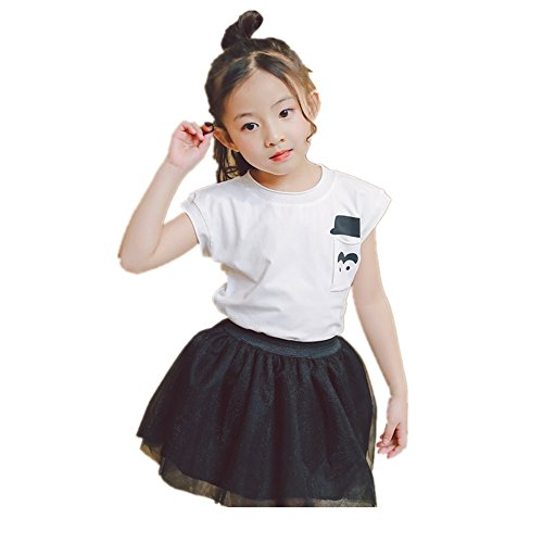 Heisenberg Beard (FTSUCQ Girls Beard Shirt Top with Bubble Skirt Skirt,Two-pieces Sets,130)
