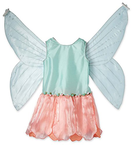 Magic Cabin IMAGINING Me Fairy Dress Up Costume Dresses With Wings - Size 6/7 Peony