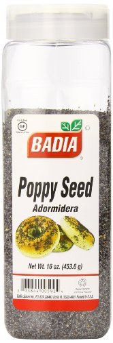 Badia Poppy Seed, 16 Ounce (Pack of 6) by Badia