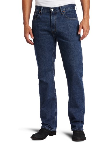 Levi's Men's 505 Regular Fit Jean, Dark Stonewash, 32x32 (Blue Dark Levis)