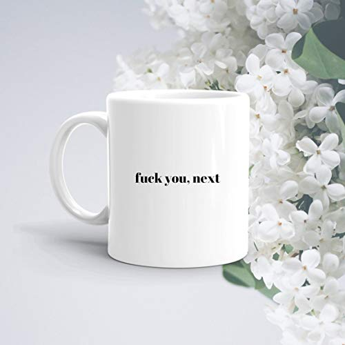 Fuck You Next | Ariana Grande Mug | Funny Mug | Adult Mug | Gifts For Ex Boyfriend Ex Girlfriend | Best Selling Mugs | Fuck Mug | Simple Mug Unique Gift Novelty Ceramic Coffee Mug Tea Cup - 11oz White