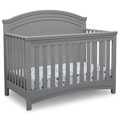 - Simmons Kids SlumberTime Emma Convertible Crib N More, Grey