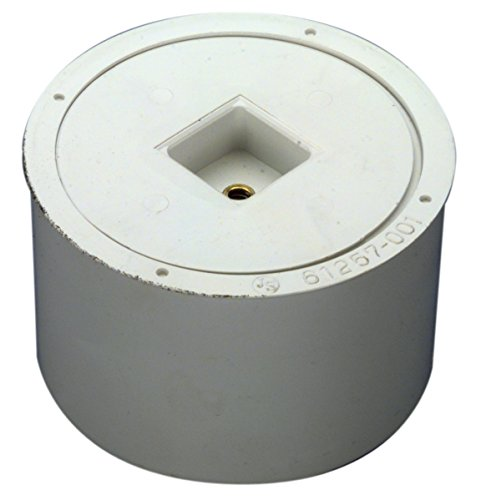 4in Pvc Threaded Plug - Zurn CO2413-PVC PVC Cleanout Body with Plug, 3
