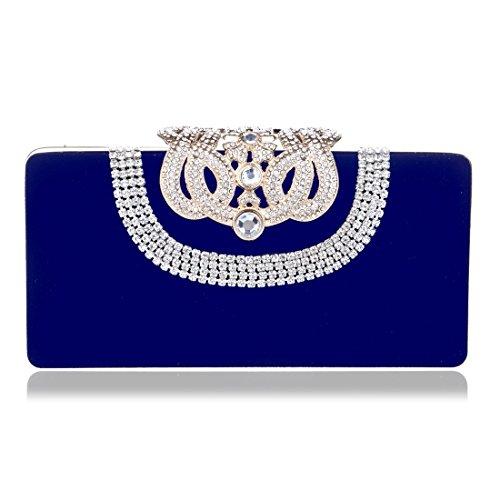 moda borsa da a sera mano da Blu donna in borsa camoscio colore Borsa mano da Borsa borsa banchetto sera ROSSO nuova Vola a da zdpwqz