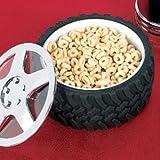 Tire Bowl Snack Candy Knobby Tread Hubcap Mechanic Motorhead Car Engineer Gift