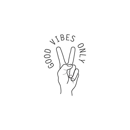 Amazoncom Sszzoo Good Vibes Only Home Decor Letter Gesture