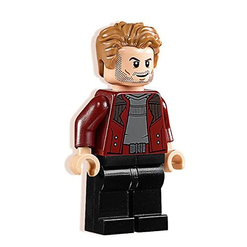 Minifigs Marvel: Guardians of the Galaxy Vol, 2 - Star Lord Minifigure with Open Jacket 2017