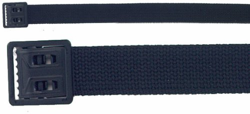 Black Military Web Belt With Black Open Face Buckle 4290BLK Size 54 Inches (Face Buckle)