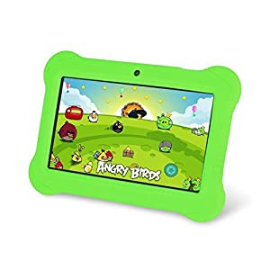 """Zeepad Kids TABZ7 Android 4.4 Quad Core Five Point Multi Touch Tablet PC, 7"""", 4GB, Kids Edition, Green"""