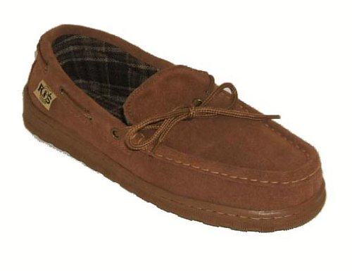 RJ's Fuzzies Mens Cowhide Suede Leather Upper Unlined Moccasins (Chestnut, 11) by RJ's Fuzzies (Image #1)