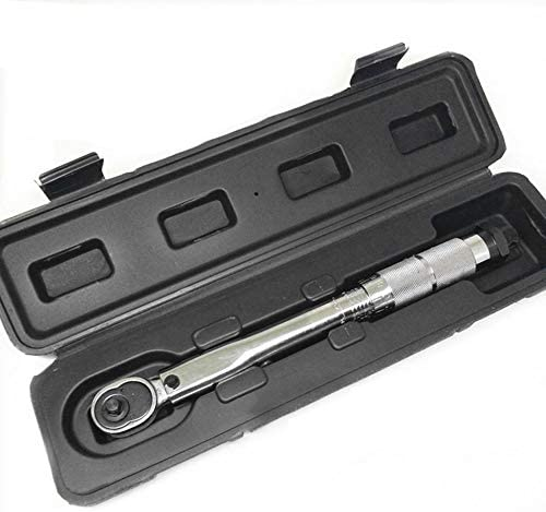 MagRing 1/4 Inch 5 to 25nm5nm Click Adjustable Torque Wrench Bicycle Repair Tools kit Set Bike Repair Tool Spanner Hand Tool Set Color:silver