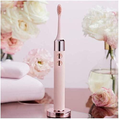 電動歯ブラシの大人、オーラルB歯ブラシソニック歯ブラシ、3つのクリーニングモードをモードボディ防水設計ソフト毛、高周波数振動を充電 (Color : Pink)