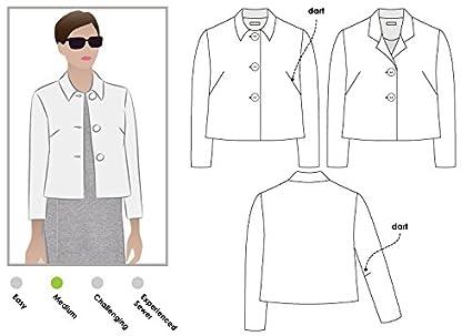 Amazon.com: Style Arc Sewing Pattern - Harriet Jacket (Sizes 18-30 ...