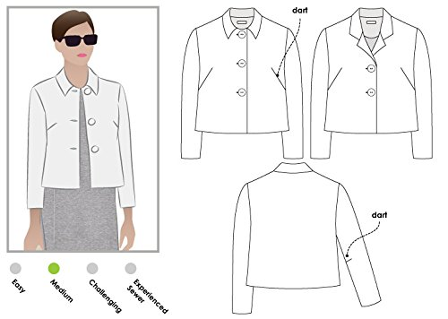Style Arc Sewing Pattern - Harriet Jacket (Sizes 18-30) - Click for Other Sizes Available