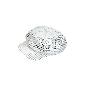 Sequin Newsboy Hat Diva Hat Select Color: silver