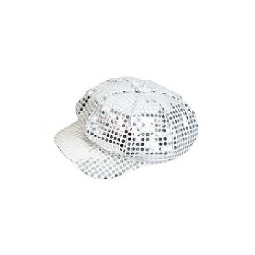 14176f9443e Amazon.com  Sequin Newsboy Hat Diva Hat Select Colour  silver  Toys   Games