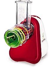 Moulinex DJ755G Fresh Express+ Tritatutto Multifunzione con 5 Accessori e Ampio Tubo di Alimentazione, L'Ideale per le tue Verdure