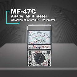 Liobaba MF-47C Analog Multimeter DC/AC Voltage Current Meter Infrared Detection Handheld hFE Tester Multitester Buzzer Battery Test