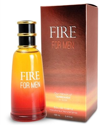 Fire For Men Perfume By Mirage Brands: 3.4 Oz 100ml Eau de Toilette Cologne WithHoneysuckle, Sandalwood And Balsam Scent –Long-Lasting Fragrance To Rock Every Occasion