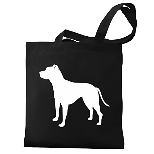 Bag Bull Eddany Tote American American Pit Eddany Canvas silhouette Terrier qzIOx6