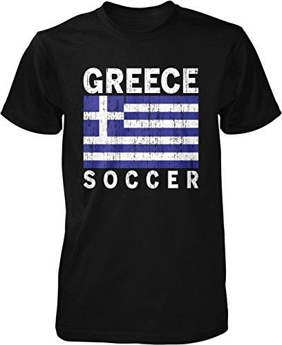 fan products of Hoodteez Greek Flag hellenic Football, Greece Soccer Men's T-Shirt, S Black