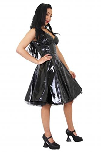 Brillant brillant PVC Cercle 50s Robe