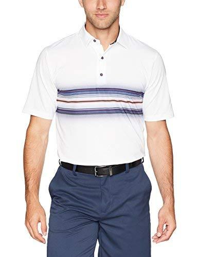 Greg Norman Men's Weather knit Ray Polo Golf Shirt White Medium [並行輸入品]   B07K19J786