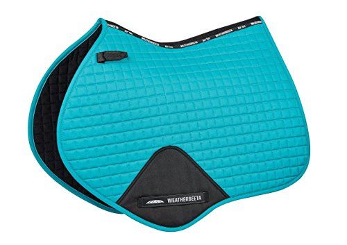 Weatherbeeta Prime Jump Shaped Saddle Pad Turquoise Full - Professional Jumping Saddle
