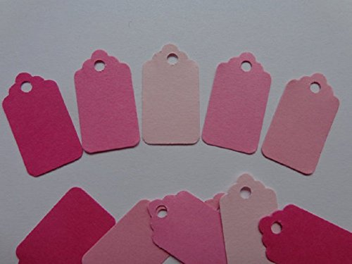 Mini Price Tags Die Cuts - Mixed Pink Price Tags - Scrapbooking Embellishments - Paper Punches (Set of 150 pieces)