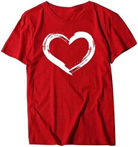 Xniral T-shirt damskie rzęsy nadrukowane gÓrna część lato z krÓtkim rękawem Slim Tops: Sport & Freizeit