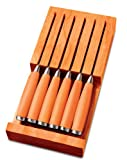 Fiesta Tangerine 6-Piece Steak Knife with In-Draw Tray