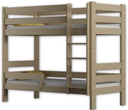 Literas de cama Sophie, 2 camas, de madera de pino, marco de 160 x 80 cm, madera, Blanco, 160x80: Amazon.es: Hogar