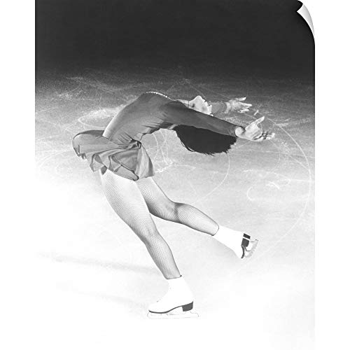 CANVAS ON DEMAND Dorothy Hamill, Star Skater, Performs a Layback Spin Wall Peel Art Print, 29