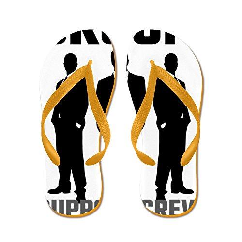 Squadra Di Supporto Dello Staff Di Cafepress - Infradito, Sandali Infradito Divertenti, Sandali Da Spiaggia Arancione