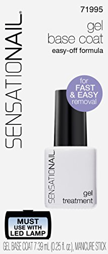 SensatioNail Nail Gel Base Coat 71995, 0.25 fl oz