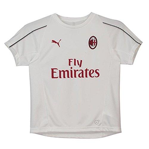 adidas 2018-2019 AC Milan Puma Training Football Soccer T-Shirt Jersey (White) - Kids