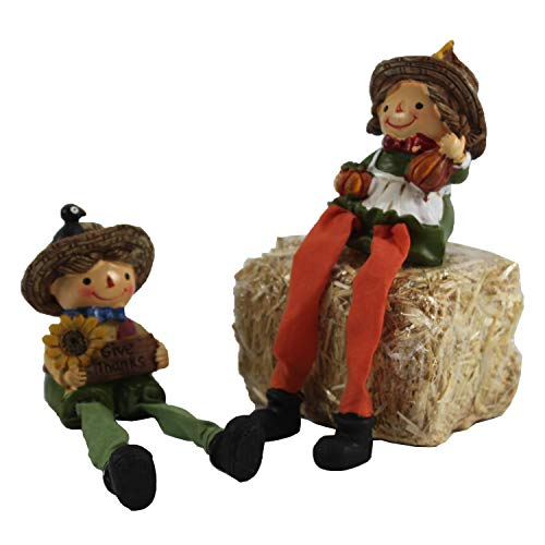 Fall Harvest Boy and Girl Shelf ()