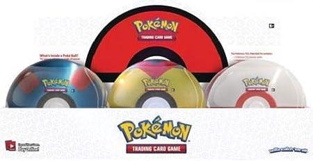 6 TIN CASE - Pokemon Spring 2021 TCG Poke Ball Tins - 18 Booster Packs