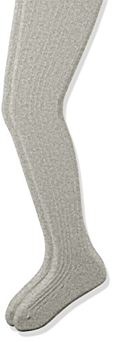 The Childrens Place Girls Cable Knit Tights (Pack of 2), Heather Grey, 12-24 Months