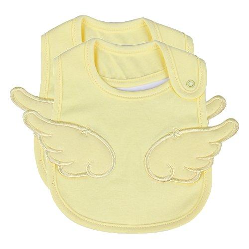 2 Packs Waterproof Teething Drool Bib Set for Boys & Girls, Water Resistant Feeder ()