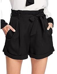 SheIn - Pantalones Cortos de Cintura para Mujer