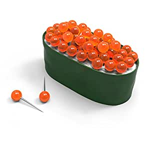 Fred MAKI TACKS Sushi Pushpins, 50-Count