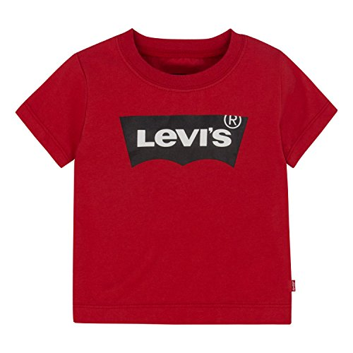 Levi's Baby Boys' Graphic Tee, Pompeian Red, 18M (Levis Soft Wash)