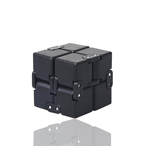 szaichengmei Fidget Cube in Style With Infinity Fidget Cube Stress Relief and Anxiety Toy for children and- Killing Time Toys Infinite Cube For ADD, ADHD, Anxiety, and Autism Adult and Children(Black)