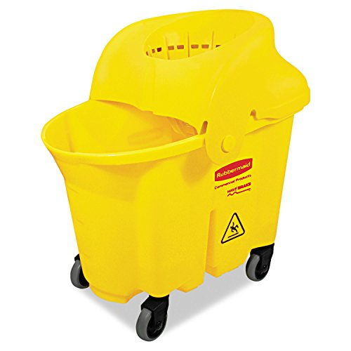 RCP759088YEL - Rubbermaid WaveBrake Institutional Bucket/Strainer Combo by Rubbermaid
