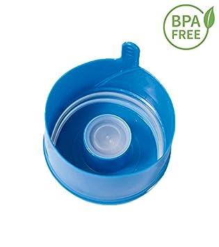50 Tapones botella, tapon non spill,tapas de botella,5 gallon,bpa free,tapon antigoteo,para botellon agua,tapón para botellas, tapon para botellas grandes: ...