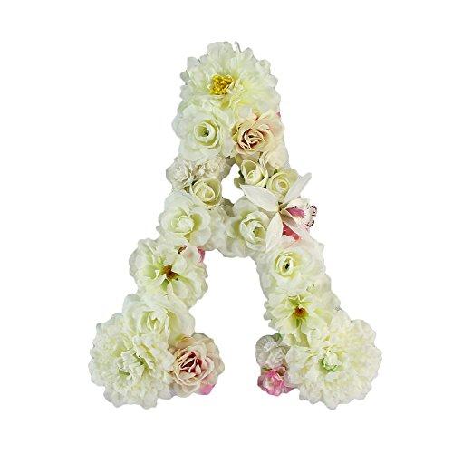 Floral Letter (Handmade flower letter Baby Shower Floral Monogram Letter Floral Wedding Decoration (A))