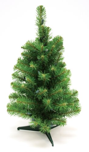 Special Happy Corp LTD Canadian Artificial Prelit Tabletop Christmas Tree, 2-Feet, Clear Lights by Good Tidings (Image #2)