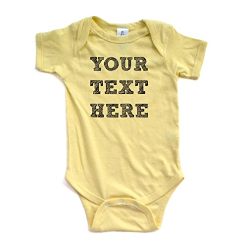 Customized Bodysuit - Apericots Cute 100% Fully Customizable Custom Customize Text Soft Cotton Baby Creeper