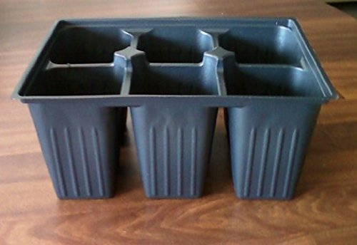 Seed Starter Trays 300 DEEP Extra Large Cells Total (50 Trays of 6 Cells Each) by AAAmercantile